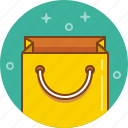 bag, gift, paper bag, present, purchase, shopping icon