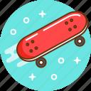 board, skate, skateboard, skating, sport icon