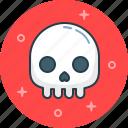 danger, dead man, death, evil, skeleton, skull icon