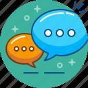 chat, conversation, dialogue, language, speech, talk icon