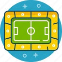 arena, field, football, game, pitch, play, stadium icon