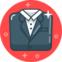 business, classic, dress code, gentleman, man, office, suit icon