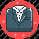 business, classic, dress code, gentleman, man, office, suit icon