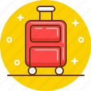 airport, baggage, journey, luggage, suitcase, travel icon