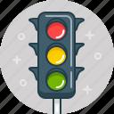 crossing, crosswalk, light, stop, traffic, traffic light, zebra icon