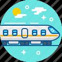 fast, journey, railway, train, transport, travel icon