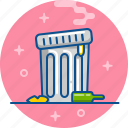 bin, recycle, rubbish, rubbish bin, trash icon
