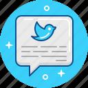 bird, blue, blue bird, tweet, tweeter icon