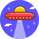 alien, plate, ship, space, ufo icon