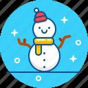 christmas, snow, snowball, snowman, winter icon