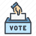 vote, voting, ballot, box, hand, election