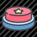 button, star, push, press