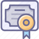 achievements, agreement, certificate, license, recognition icon