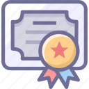 achievements, certificate, recognition icon