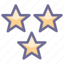 great, nice, rate, stars, vote icon