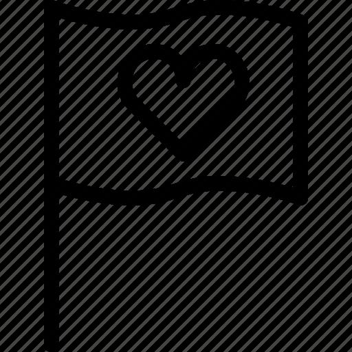 flag, heart, like, love, national icon