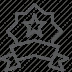 award, badge, medal, prize, ribbon, star, vote icon