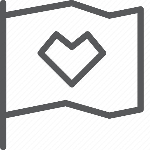 favorite, flag, heart, like, marker, save, vote icon