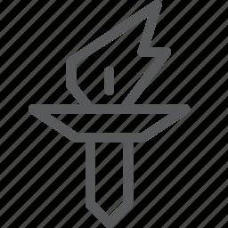 box, burn, desire, election, fire, hot, rewards, torch icon
