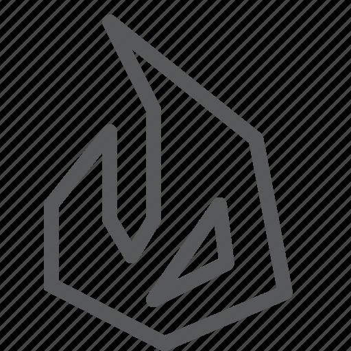 box, burn, desire, election, fire, hot, topic, vote icon