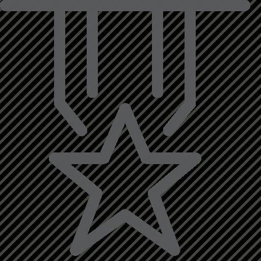 army, award, badge, law, medal, police, rank, star icon