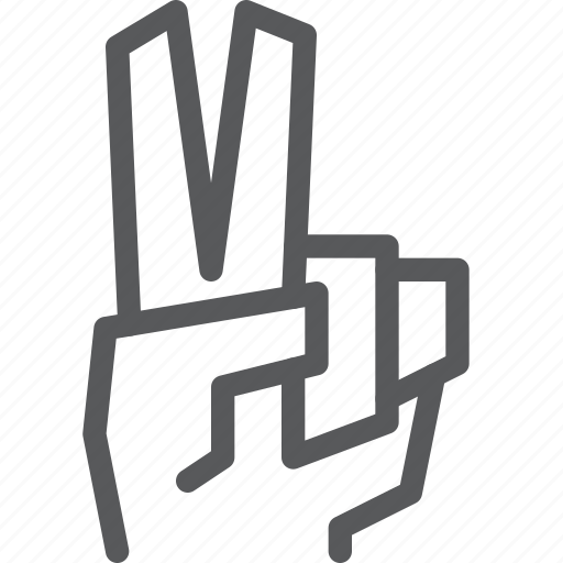 finger, gesture, hand, peace, sign, two, vote icon