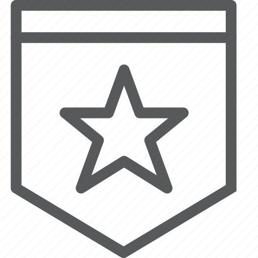 army, award, badge, police, prize, rank, rewards, star icon