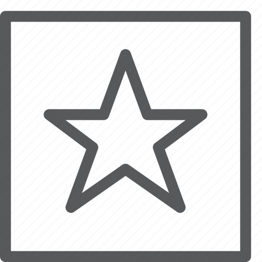 army, award, election, rank, small, square, star, vote icon