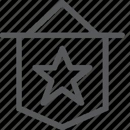 award, badge, medal, prize, rewards, ribbon, star, vote icon