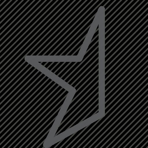 award, badge, half, medal, prize, ribbon, star, vote icon