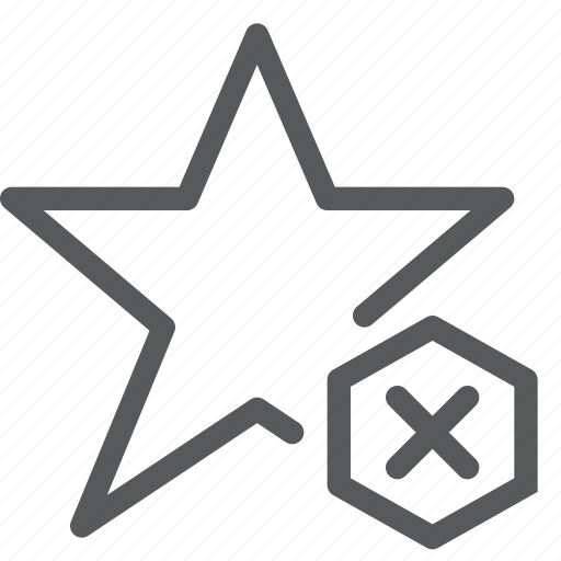 award, badge, medal, prize, remove, ribbon, star, vote icon