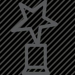 achievement, award, prize, rewards, star, success, trophy, winner icon
