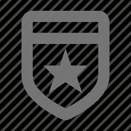 award, badge, law, medal, police, prize, rewards, star icon