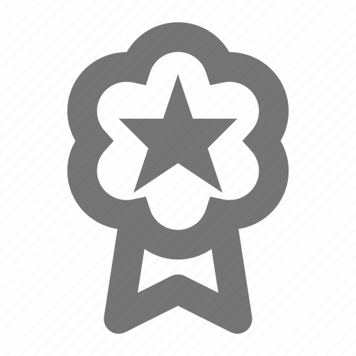 badge, favorite, medal, ribbon, star icon