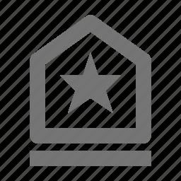 achievement, badge, bookmark, favorite, star icon