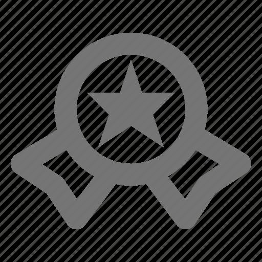 badge, medal, prize, ribbon, star icon