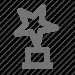 achievement, award, medal, prize, reward, star, trophy, winner icon