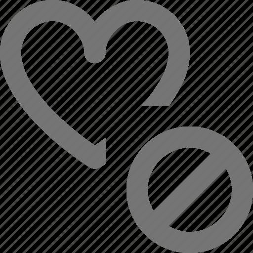 block, heart, like, stop icon