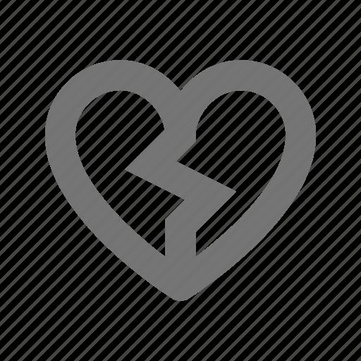 broken heart, heart icon
