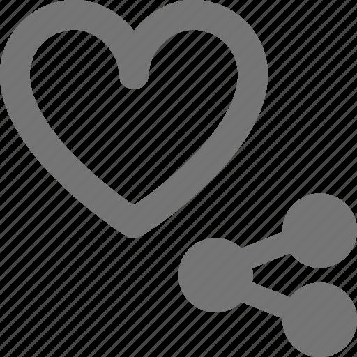 heart, like, share icon