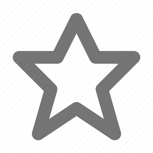award, election, empty, plain, price, reward, star, vote icon