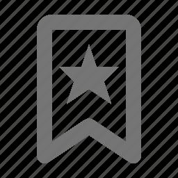 badge, banner, bookmark, favorite, star icon