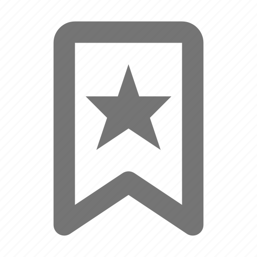 badge, banner, bookmark, favorite, star icon