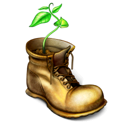 boot, plant, shoe icon