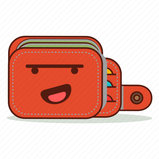 cartoon, cute, emoji, expression, laughing, unibrow, wallet icon