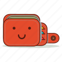 cartoon, cute, emoji, expression, smile, smiling, wallet icon