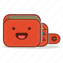 cartoon, cute, emoji, expression, happy, laughing, wallet icon