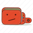 bored, cartoon, confused, cute, emoji, expression, wallet icon