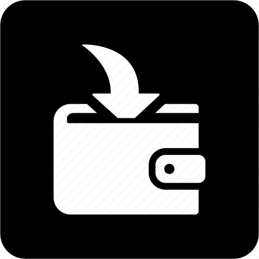 incoming payment, money, payment, wallet icon