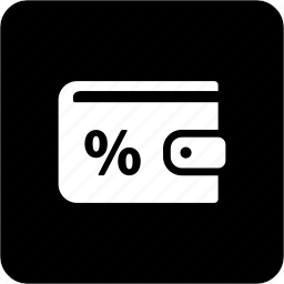 cash, money, payment, percentage, wallet icon